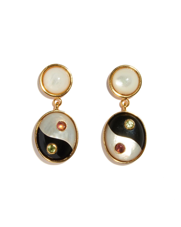 Yin-Yang Drop Earrings