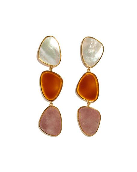 Lizzie Fortunato Oversized 3-Stone Earrings