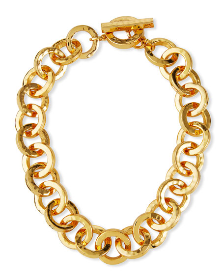 NEST Jewelry Hammered Gold Link Necklace