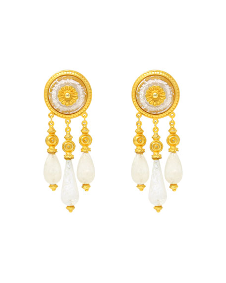 Ben-Amun Venetian Glass Clip Earrings