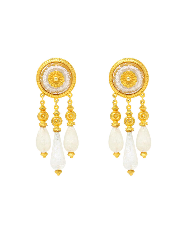 Venetian Glass Clip Earrings