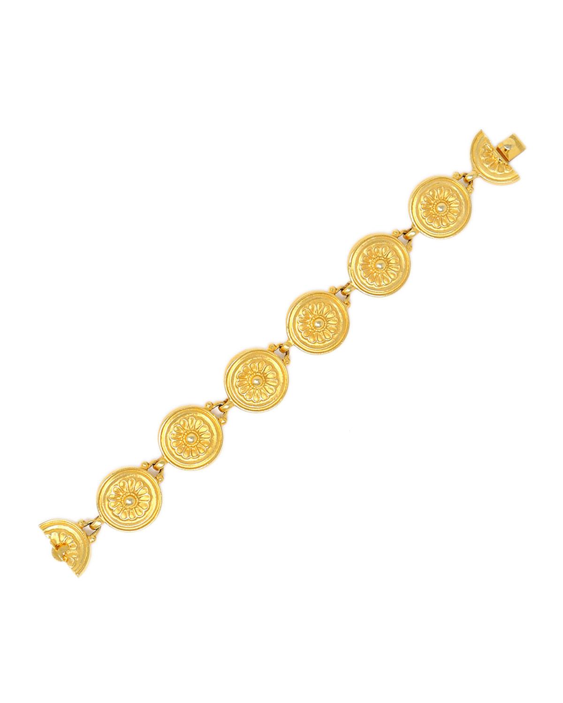 Flower-Detail Chain Bracelet