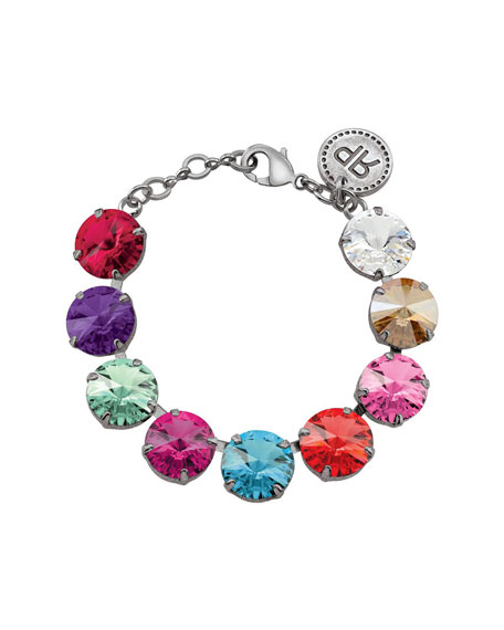 Rebekah Price Rivoli Crystal Bracelet, Multi