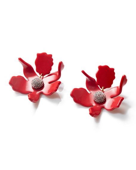 Lele Sadoughi Small Crystal Lily Drop Earrings