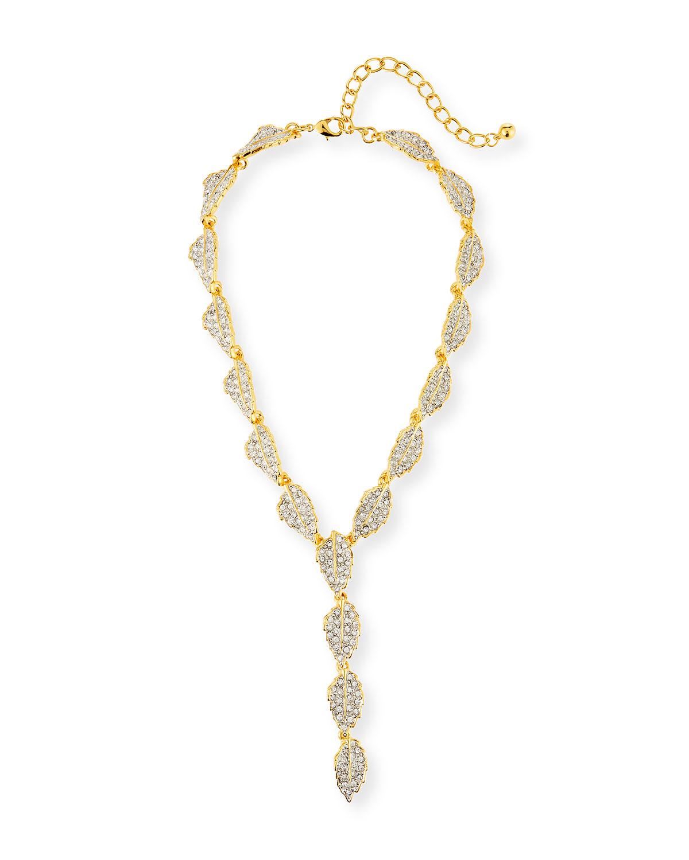 Crystal Y-Drop Necklace