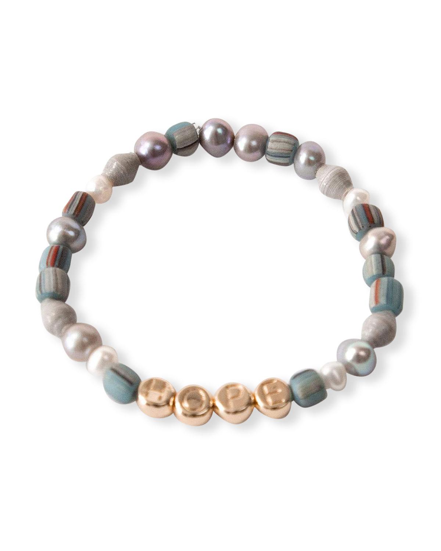 HOPE Inspirational Beaded Stretch Bracelet