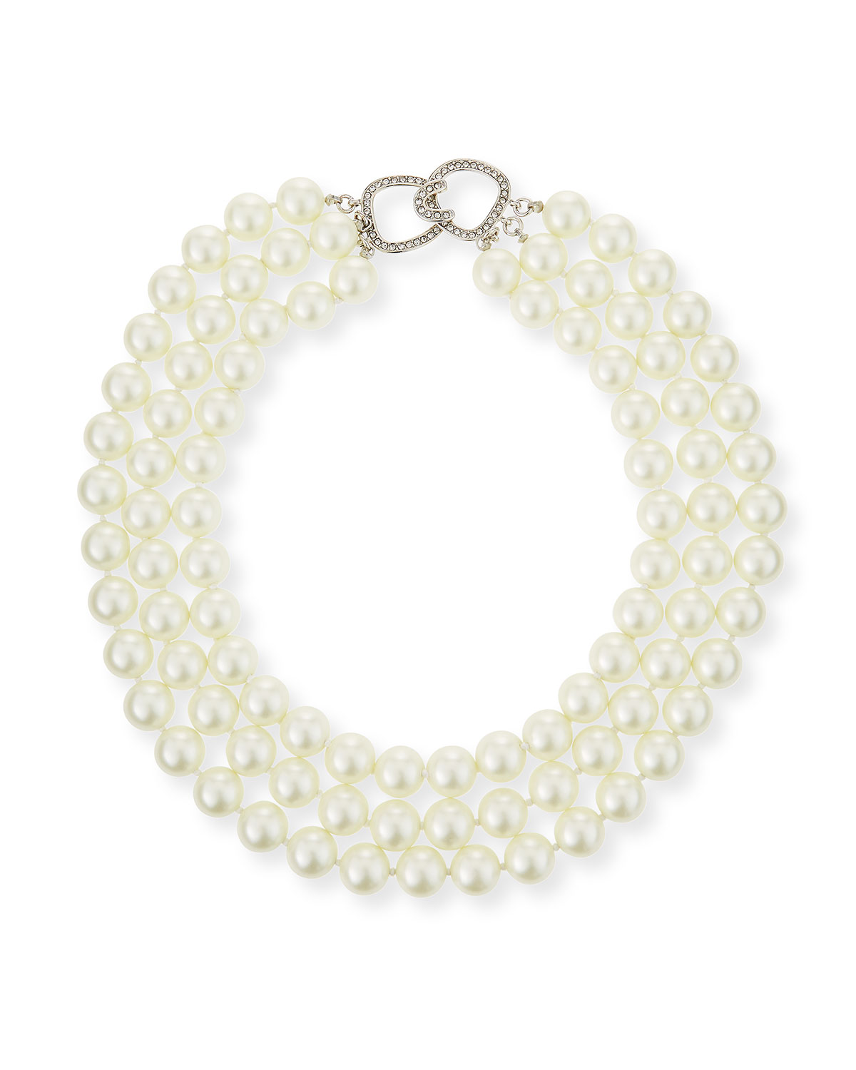 3-Row Pearly Necklace