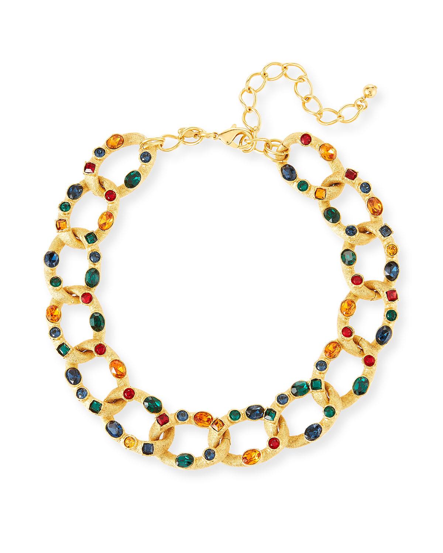 Gemstone Chain-Link Necklace