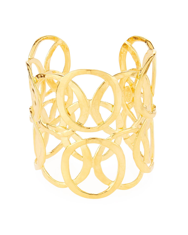 Open Circles Cuff Bracelet