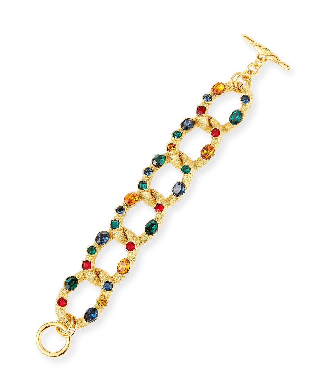 Multicolor Gem Chain Bracelet