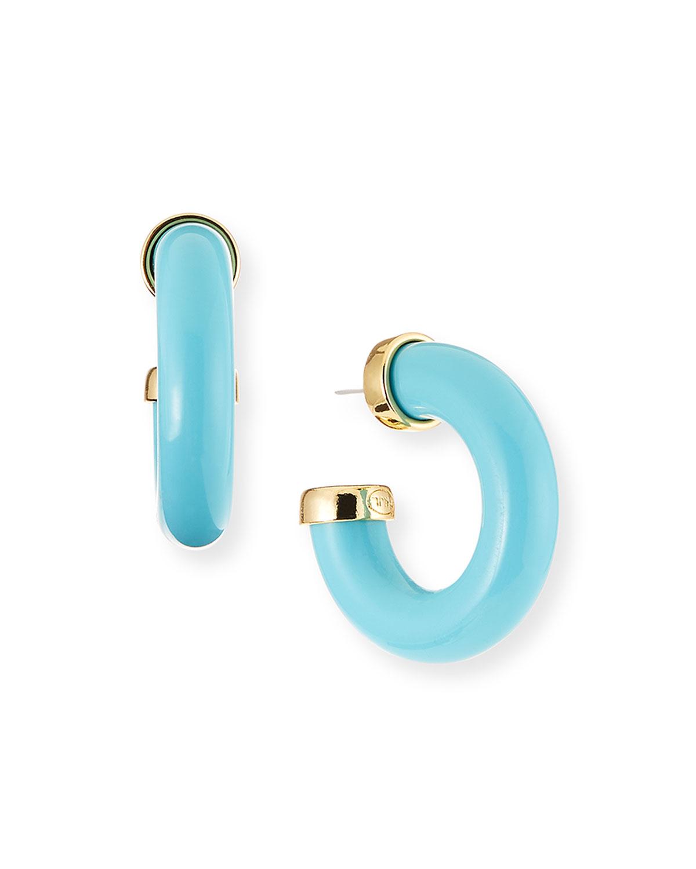 Resin C-Hoop Earrings