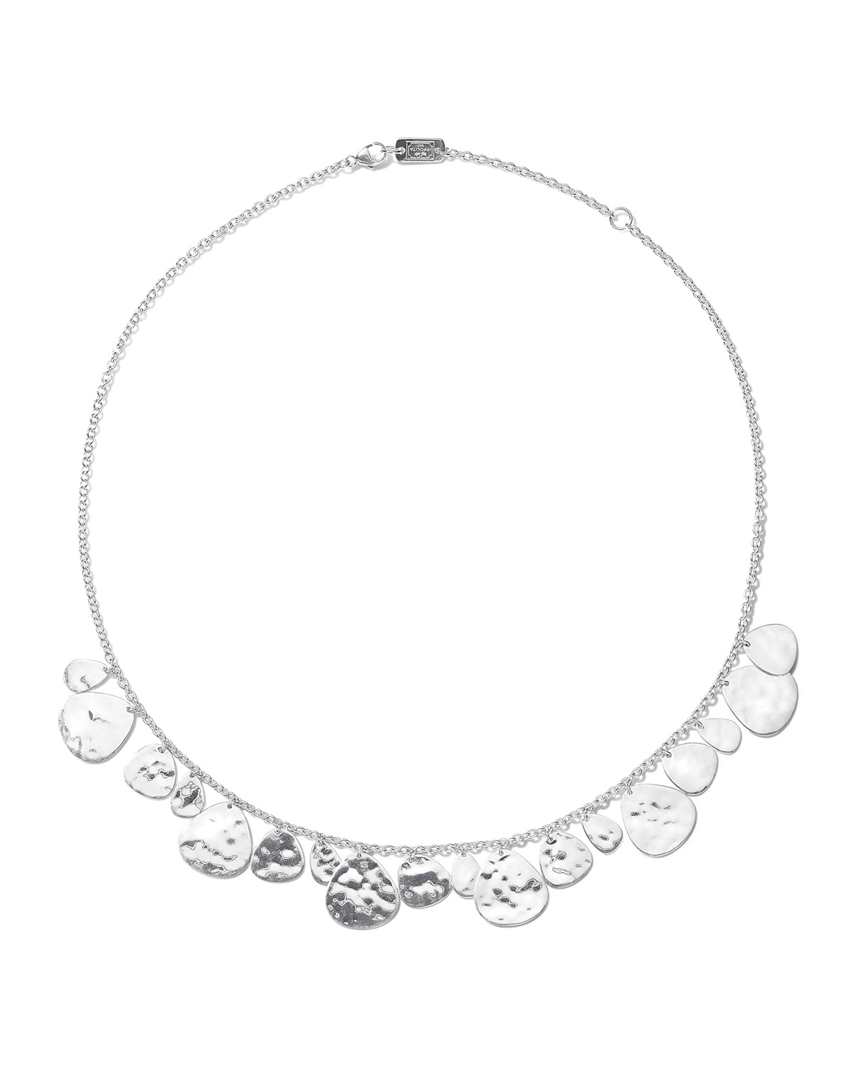 Classico Crinkle Hammered Short Nomad Necklace