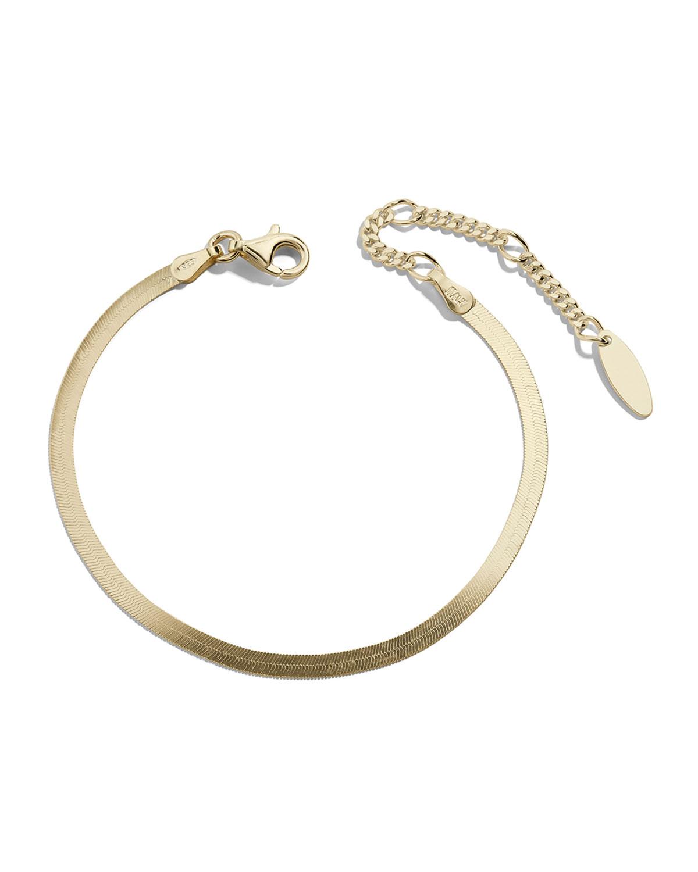 Gia Herringbone Chain Bracelet