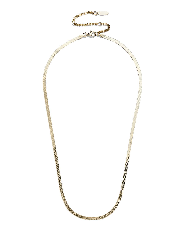 Gia Herringbone Chain Necklace