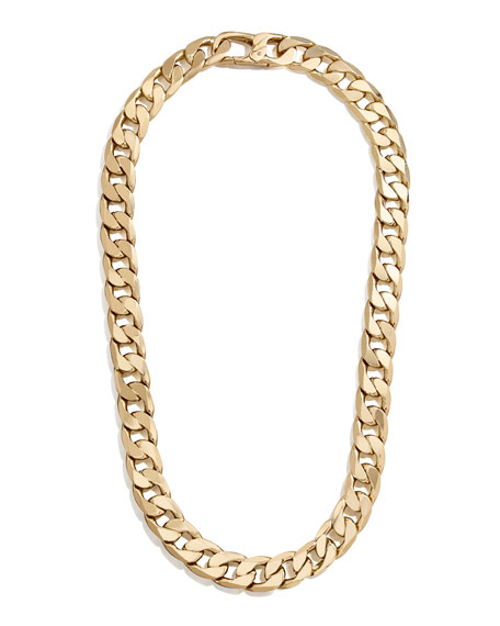 BaubleBar Large Michel Curb-Chain Necklace