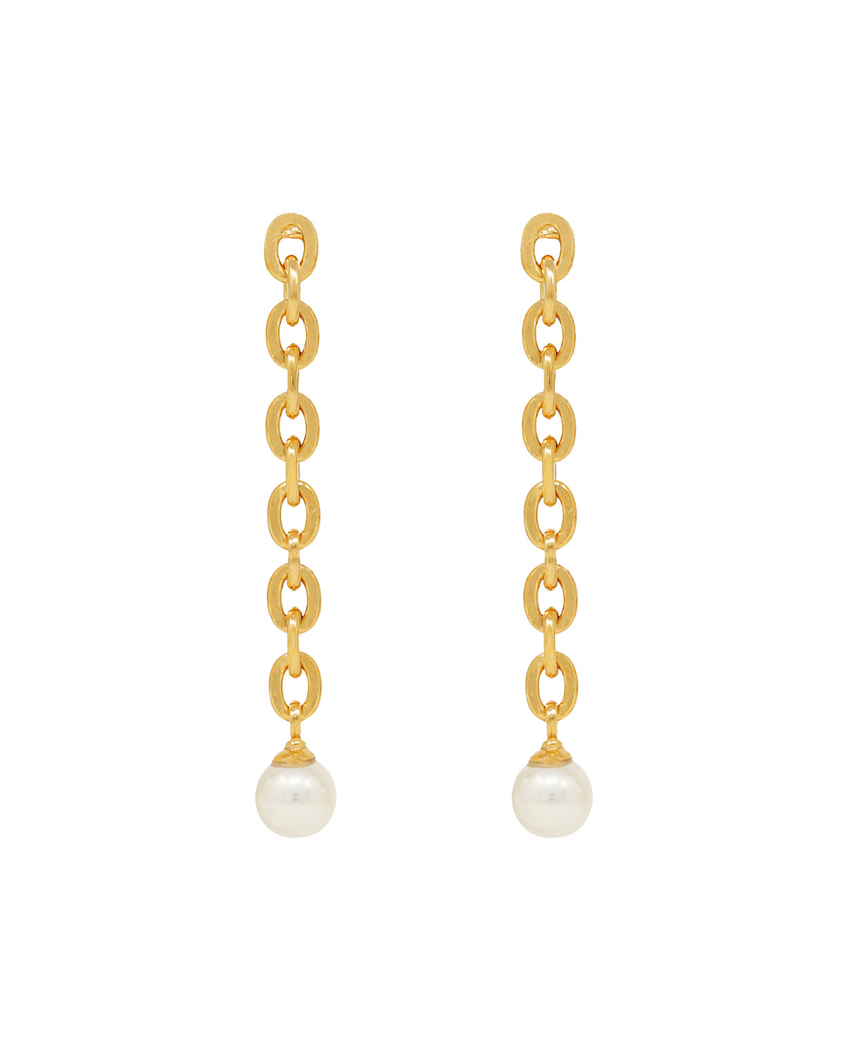 Pearly Chain-Link Earrings