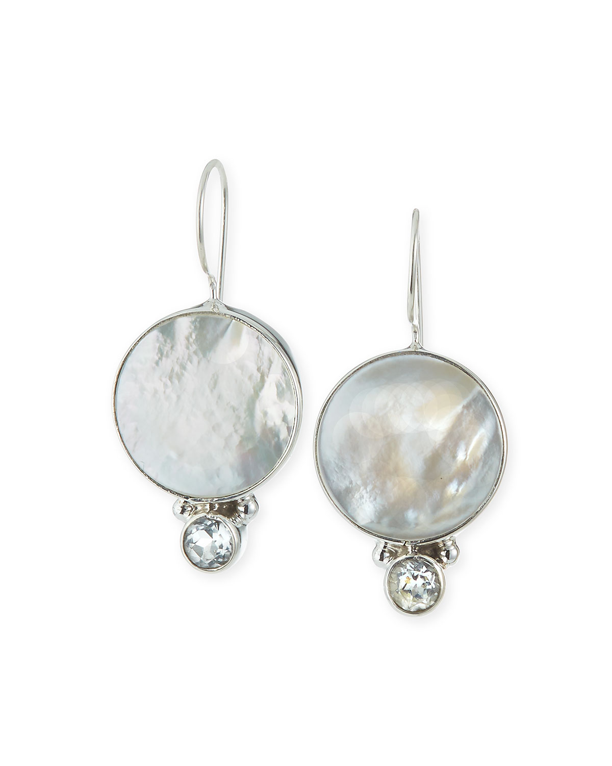 Topaz and Mother-of-Pearl Drop Earrings