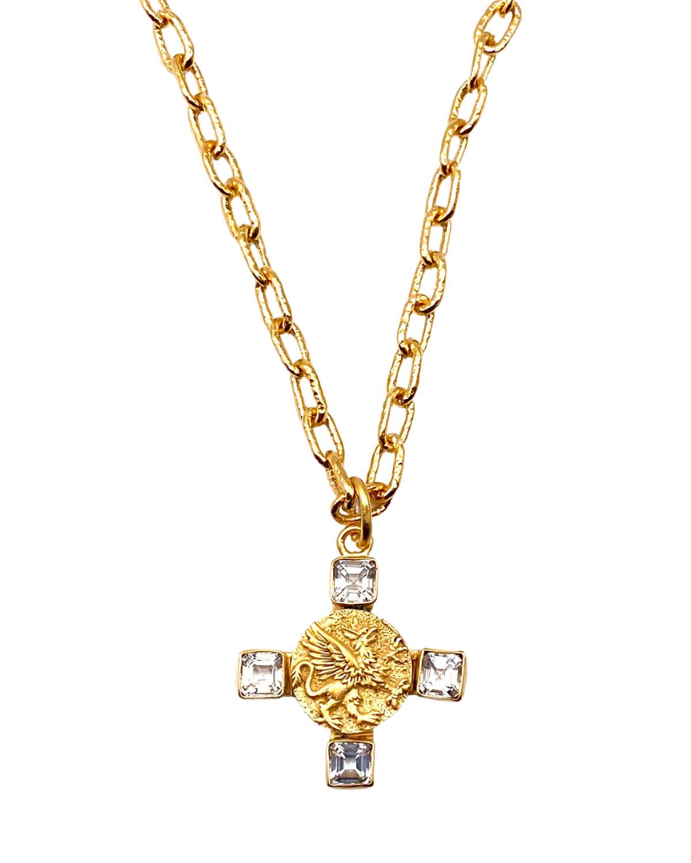Topaz Griffin Pendant Necklace