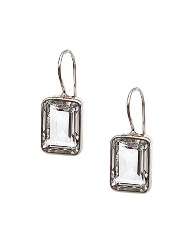 Sterling Silver Clear Acrylic Lace Pattern Earring