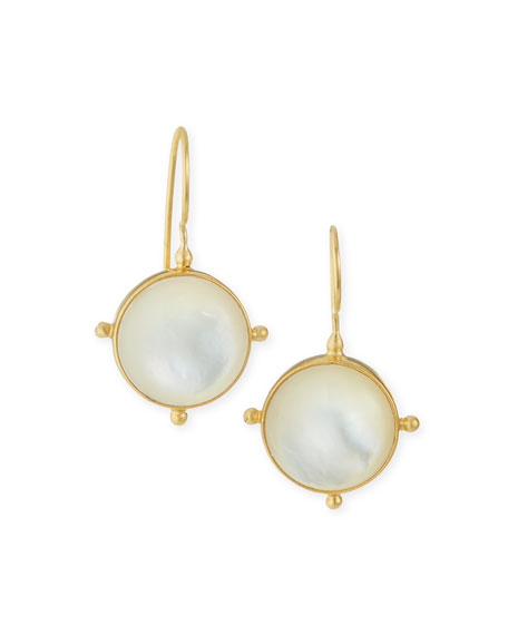Dina Mackney Mother-of-Pearl Pinwheel Drop Earrings