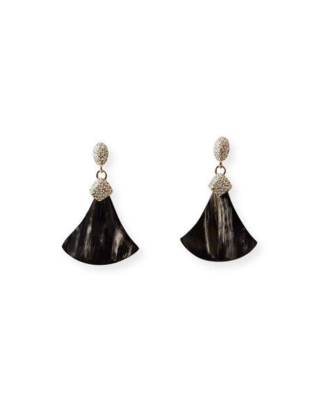 Akola Constance Crystal and Horn Drop Earrings