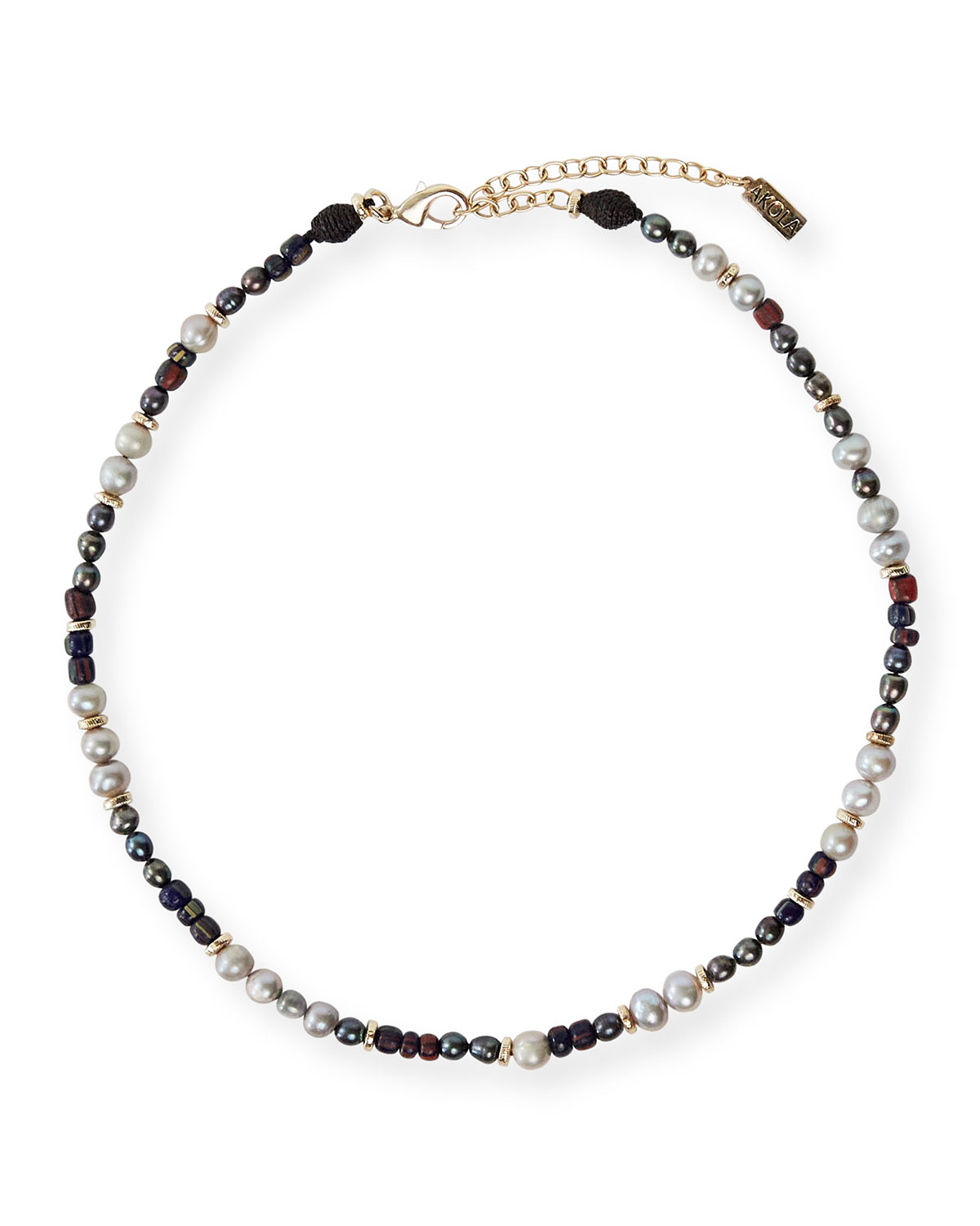 Yuzu Beaded Necklace with Pearl & Glass