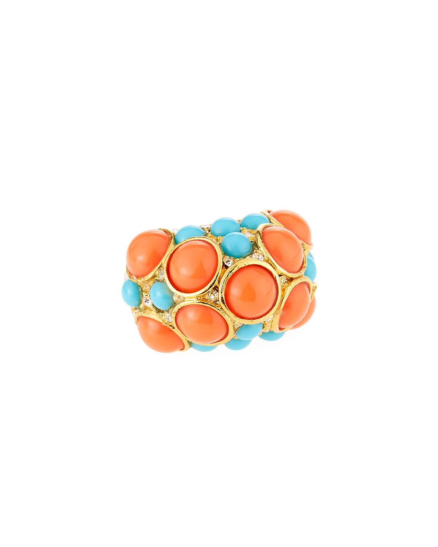 Adjustable Crystal Dot Ring