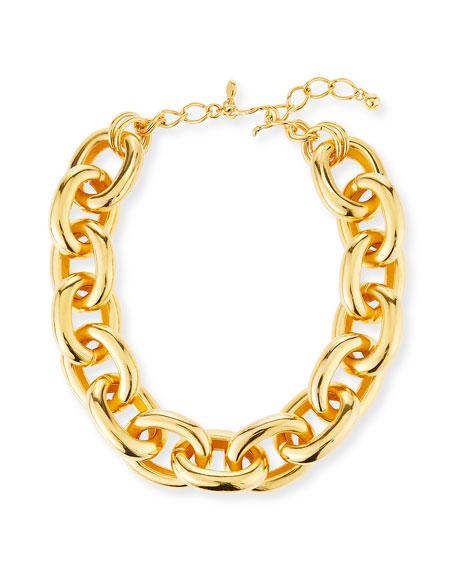 Kenneth Jay Lane Medium Oval-Link Necklace