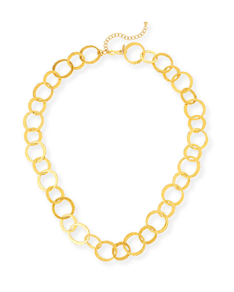 "Kenneth Jay Lane Long Circle-Link Necklace, 36""L"