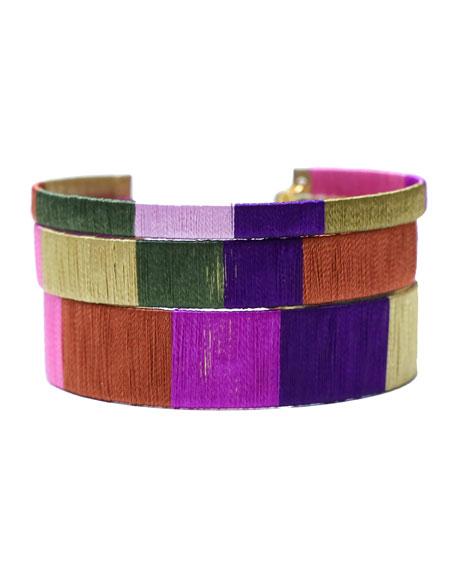 BuDhaGirl Drama Queen Cuff Bracelets, Set of 3