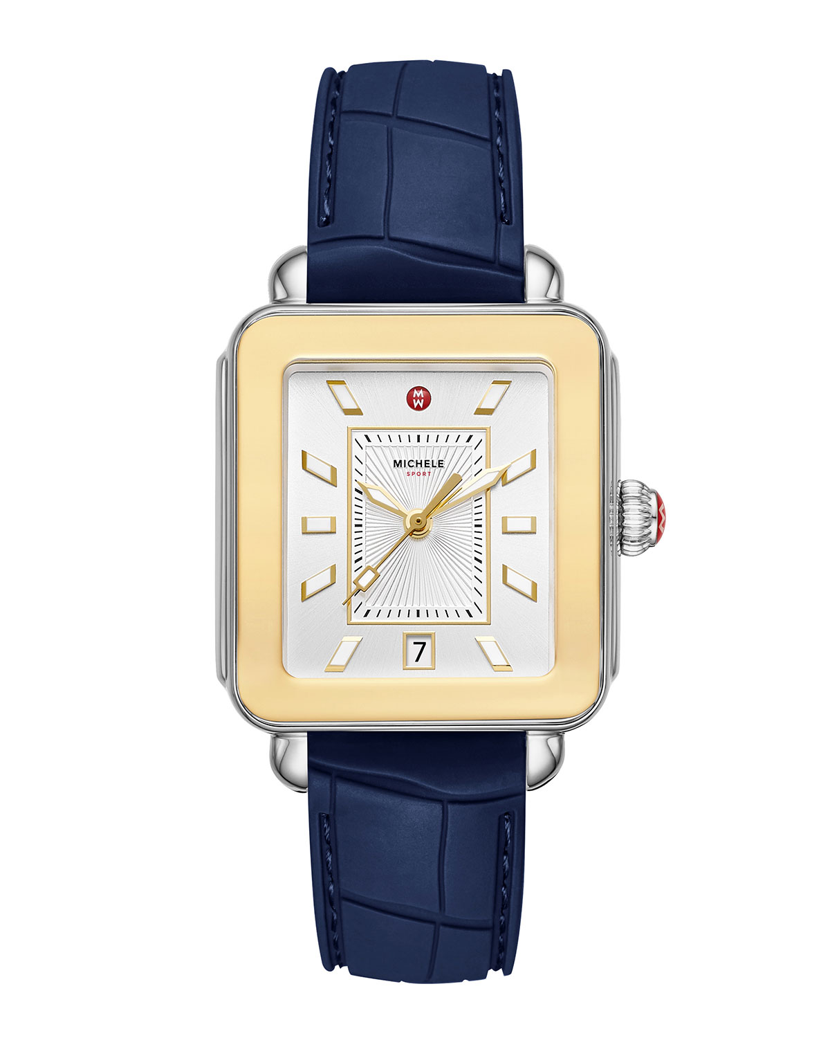 Deco Sport Two-Tone Gold and Silicone Watch