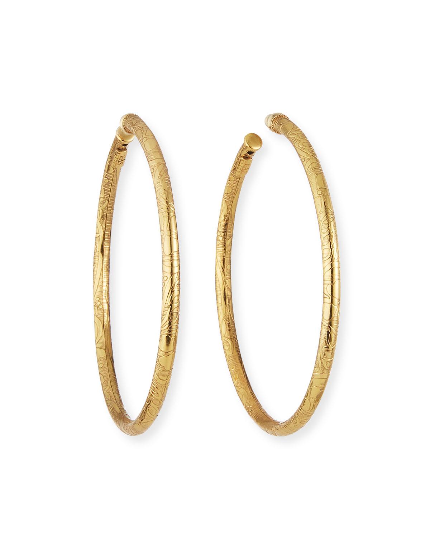 Maori Large Hoop Earrings