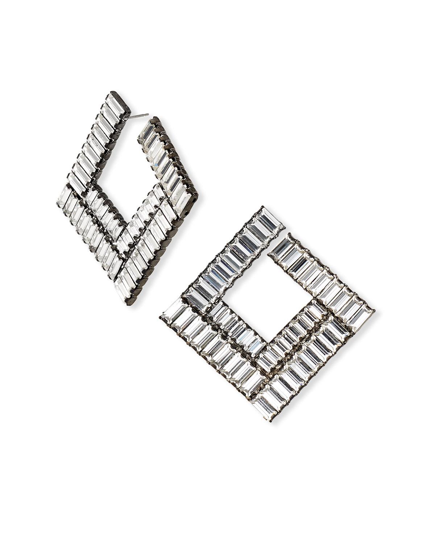 Bianca Square Forward-Facing Hoop Earrings