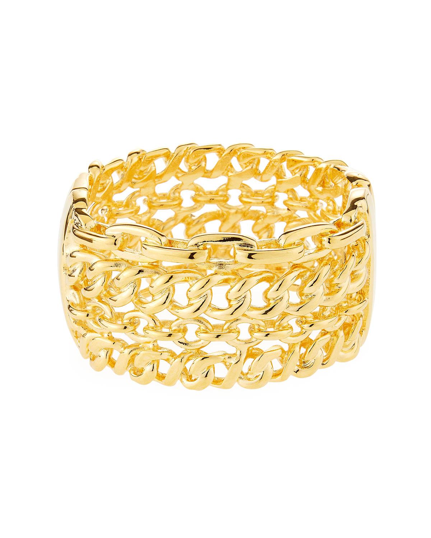 4-Row Link Cuff Bracelet