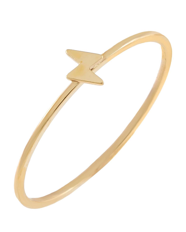 14k Gold Mini Lightning Bolt Ring