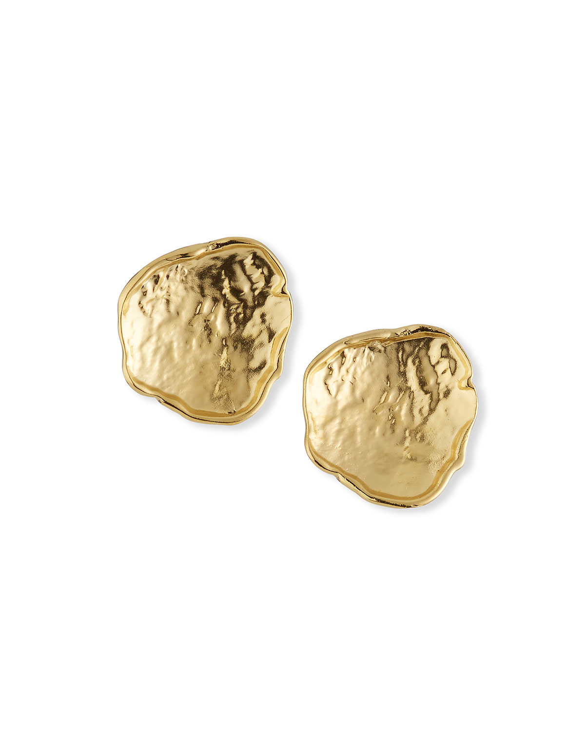 Free Form Gold Post Earrings