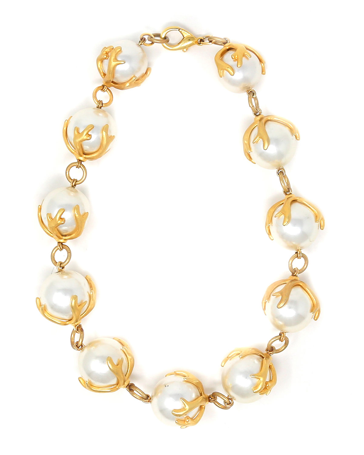 Pearly Bead Link Necklace