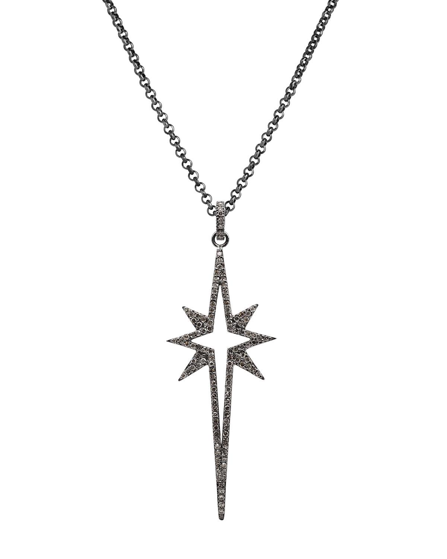 Large Diamond Starburst Spear Necklace