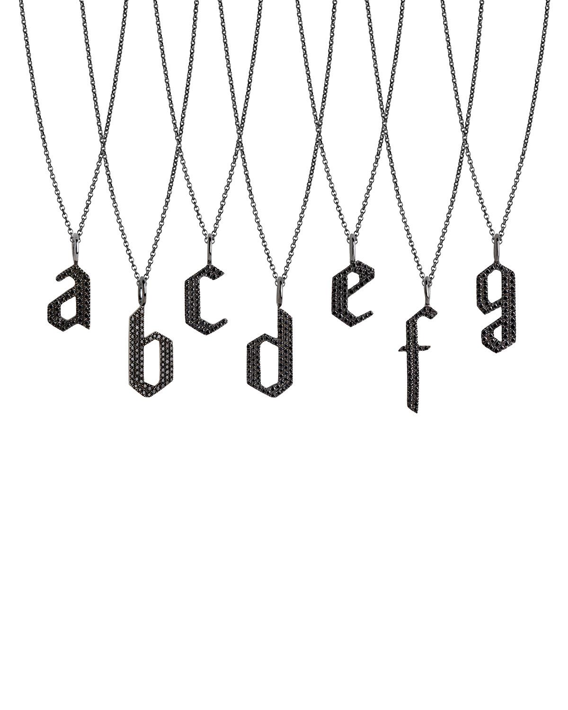 Black Diamond Alphabet Necklace
