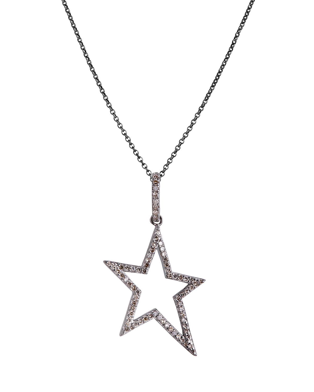 Hollow Diamond Star Necklace