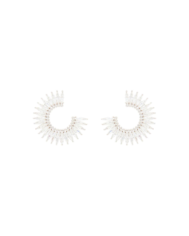 Madeline Crystal Hoop Earrings