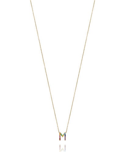 Rainbow Star Pendant 14KY 14KW 14KT 14K Solid Gold Yellow White Gemstone Mutlicolor Rainbow Ombre Ombr\u00e9 Sapphire Ruby Charm Necklace
