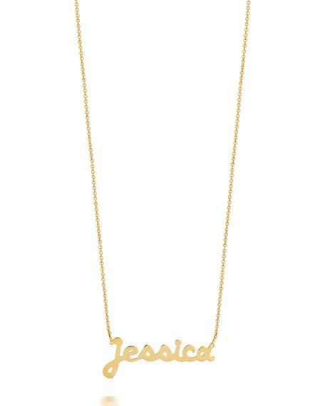 Sarah Chloe Ava 14k Gold Script Name Necklace