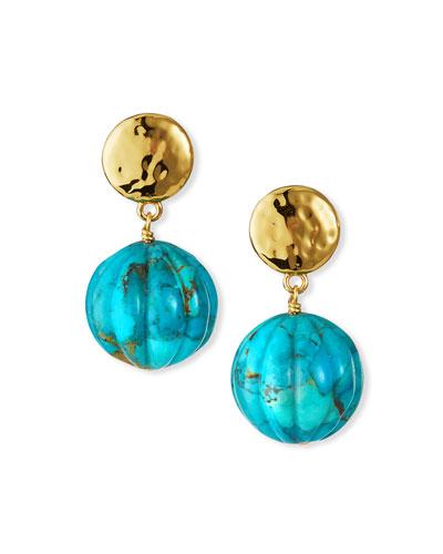 Mother Of Pearl Earrings Brass Earrings Fashion Earrings Dangle Earrings For Her Handmade Earrings Modern Earrings Turquoise Earrings