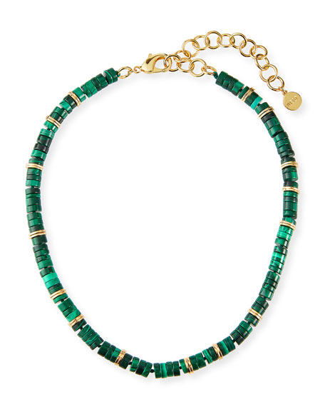 NEST Jewelry Malachite Heishi Necklace