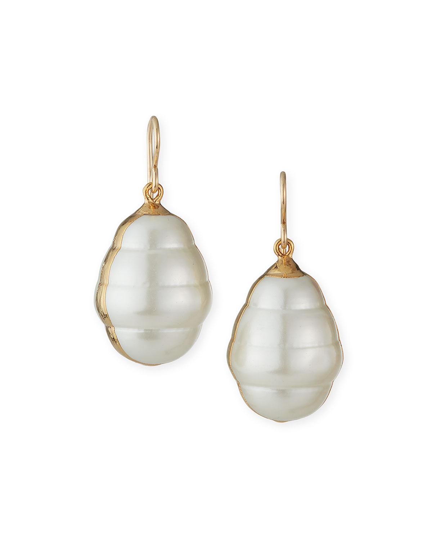 Pearly Shell Drop Earrings