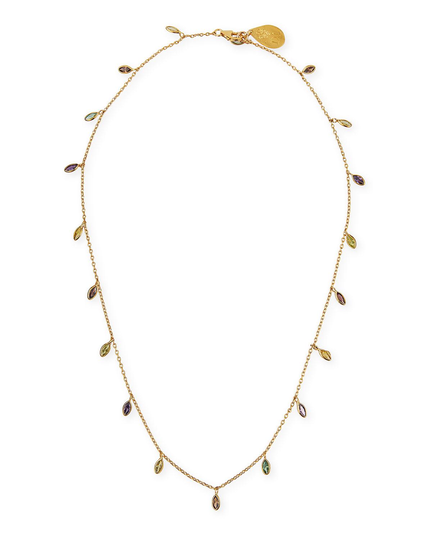 Multicolor Cubic Zirconia Chain Necklace