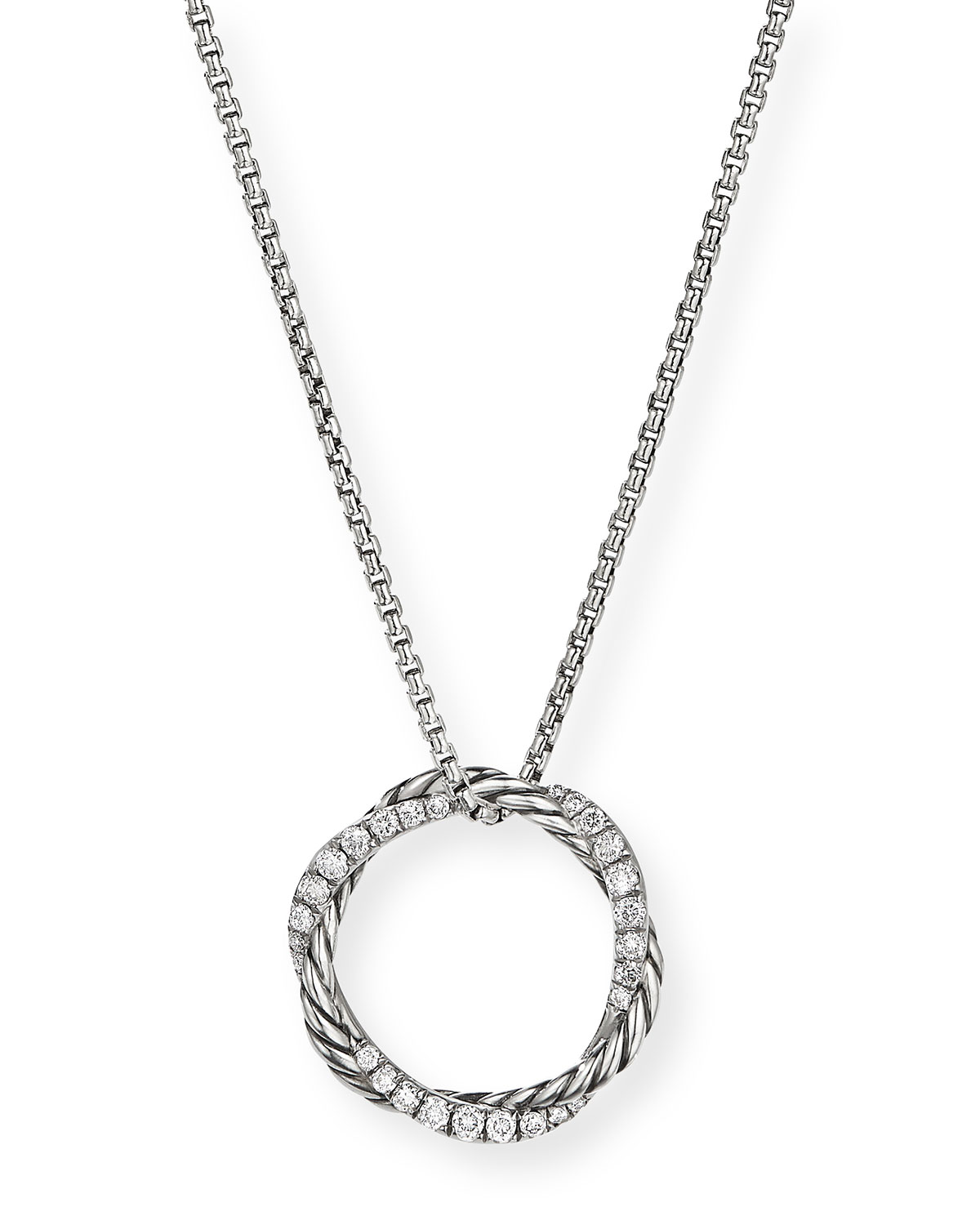 David Yurman PETITE PAVE INFINITY PENDANT NECKLACE WITH DIAMONDS