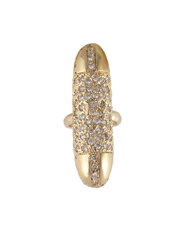 Diamond Illusion Gold Bullet Ring