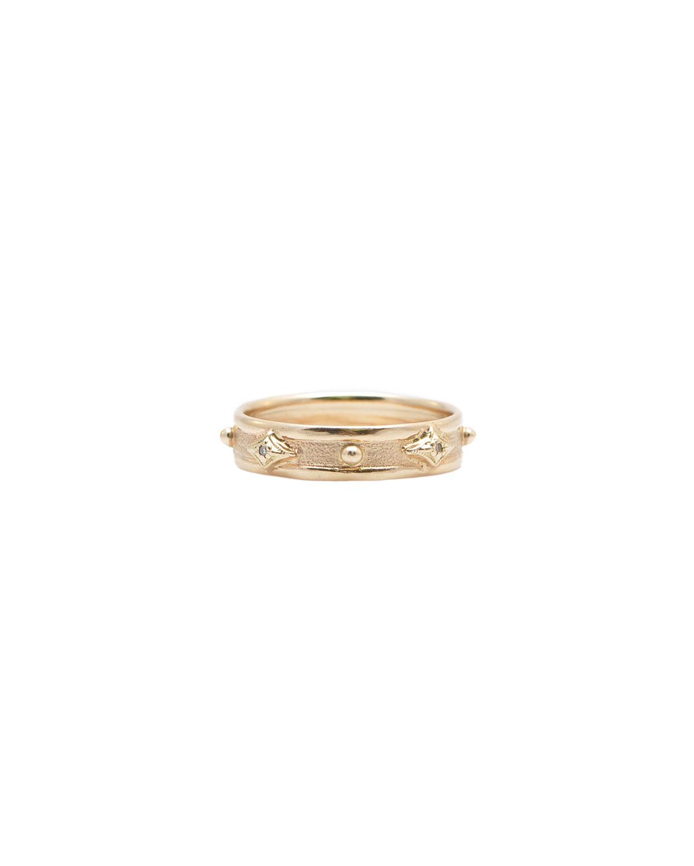 Armenta 14K ROSE GOLD DIAMOND GRANULATION RING